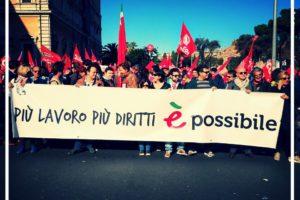 Alla manifestazione della CGIL: più lavoro e più diritti è Possibile