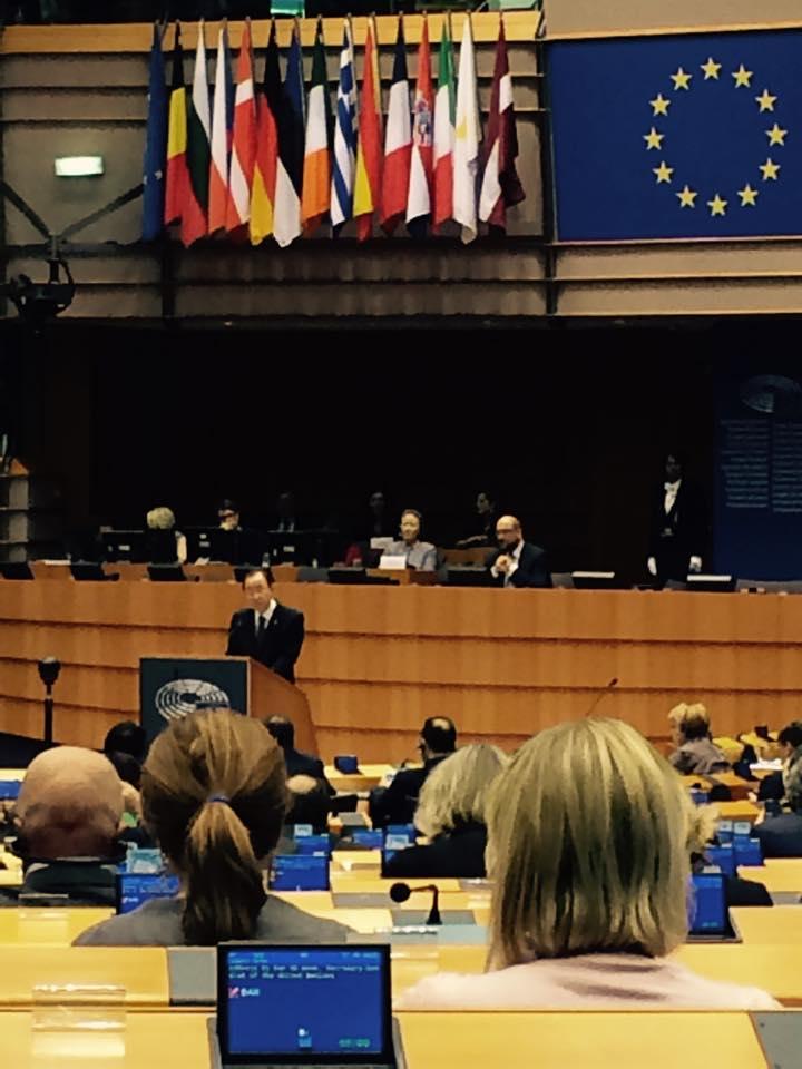Incontro con Ban Ki-Moon al Parlamento Europeo