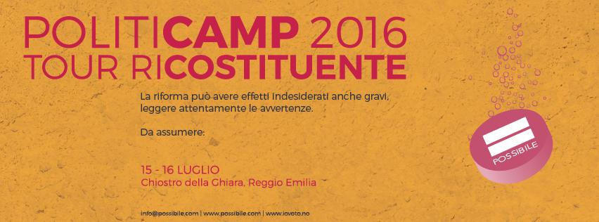 Politicamp 2016 a Reggio-Emilia