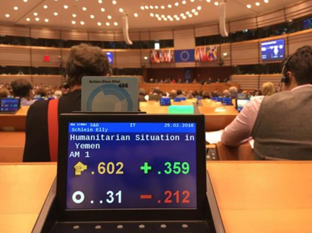 Il PE chiede l'embargo UE su armi verso l'Arabia Saudita