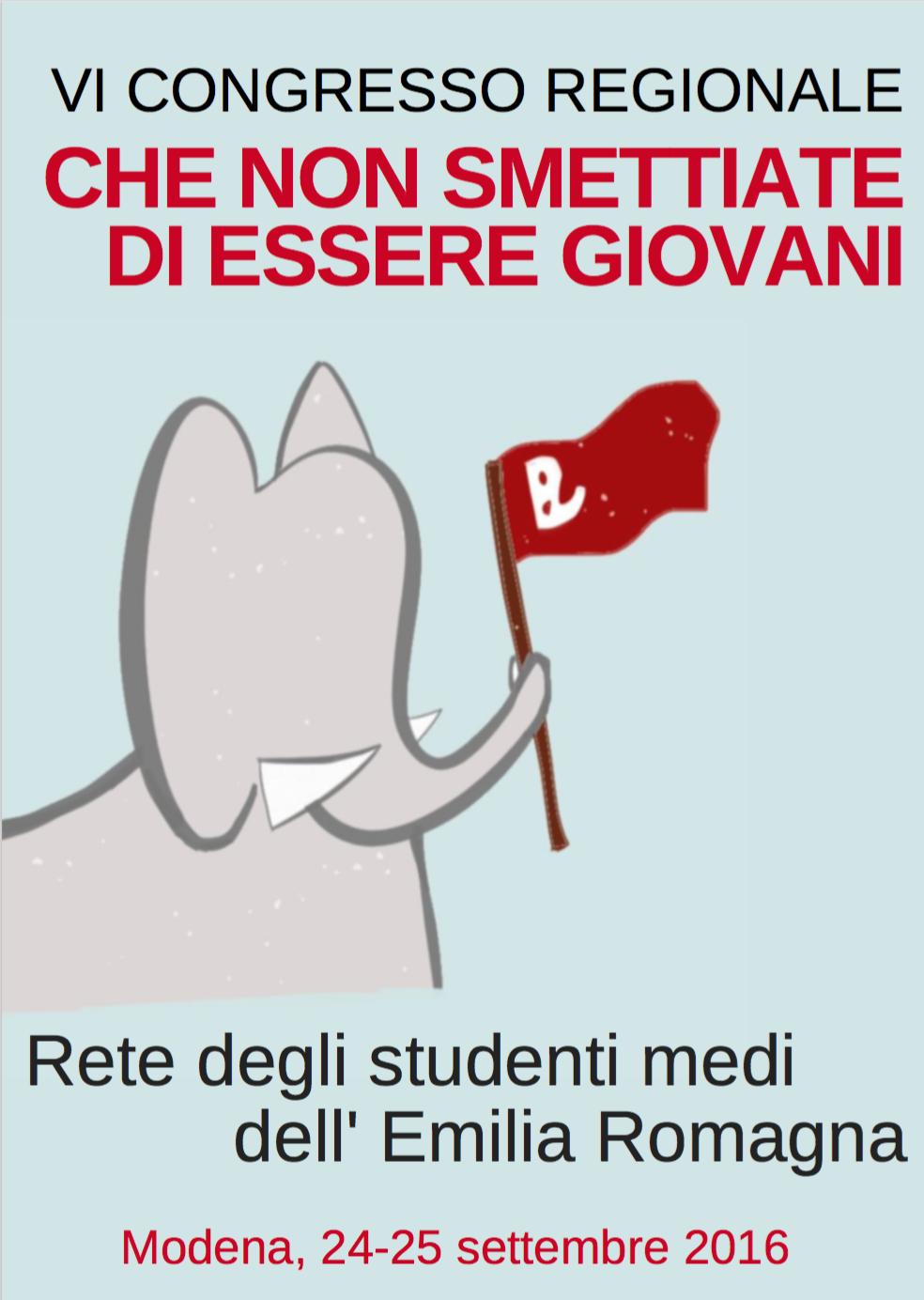 VI Congresso Regionale della Rete degli Studenti Medi dell'Emilia Romagna