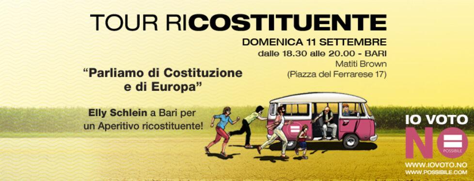 A Bari per il tour riCostituente