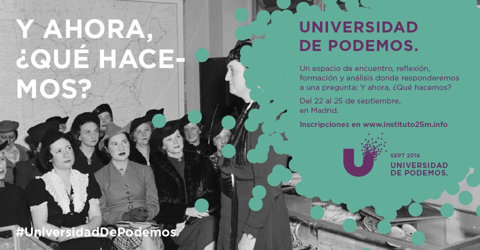 Universidad de Podemos: El movimiento democrático internacional en el nuevo ciclo