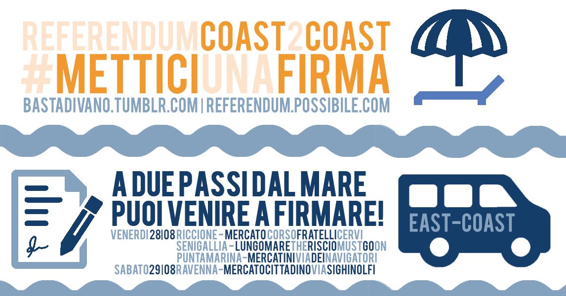 Punta Marina #referendumcoast2coast