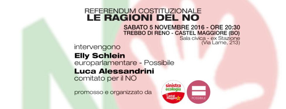 Referendum costituzionale: le Ragioni del NO – Castel Maggiore (BO)
