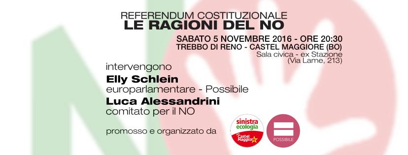Referendum costituzionale: le Ragioni del NO - Castel Maggiore (BO)