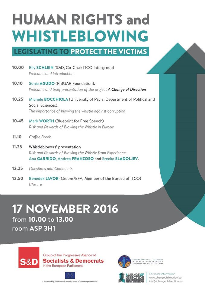 Human rights and whistleblowing legislation to protect victim