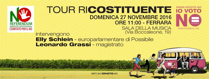 Tour Ricostituente a Ferrara