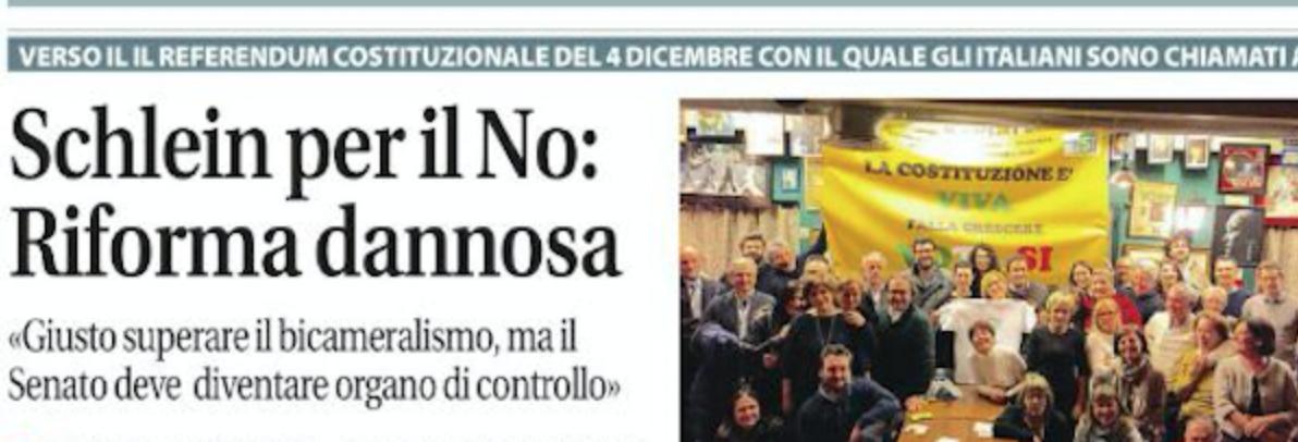 """Libertà di Piacenza: """"Schlein per il No: Riforma dannosa"""""""