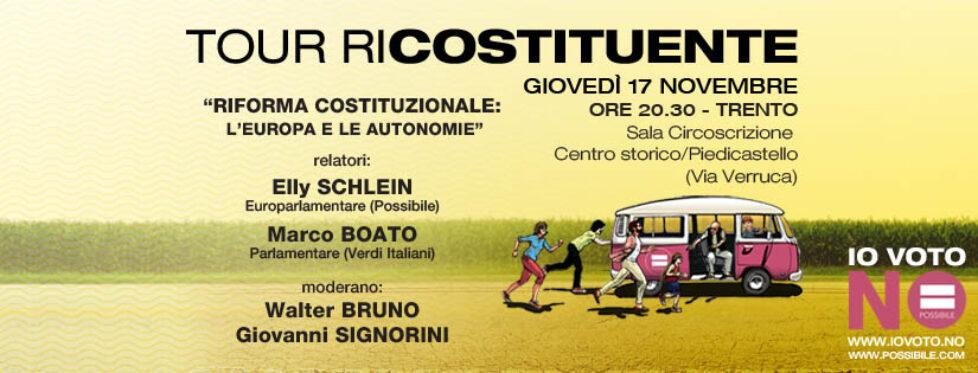 Tour Ricostituente a Trento