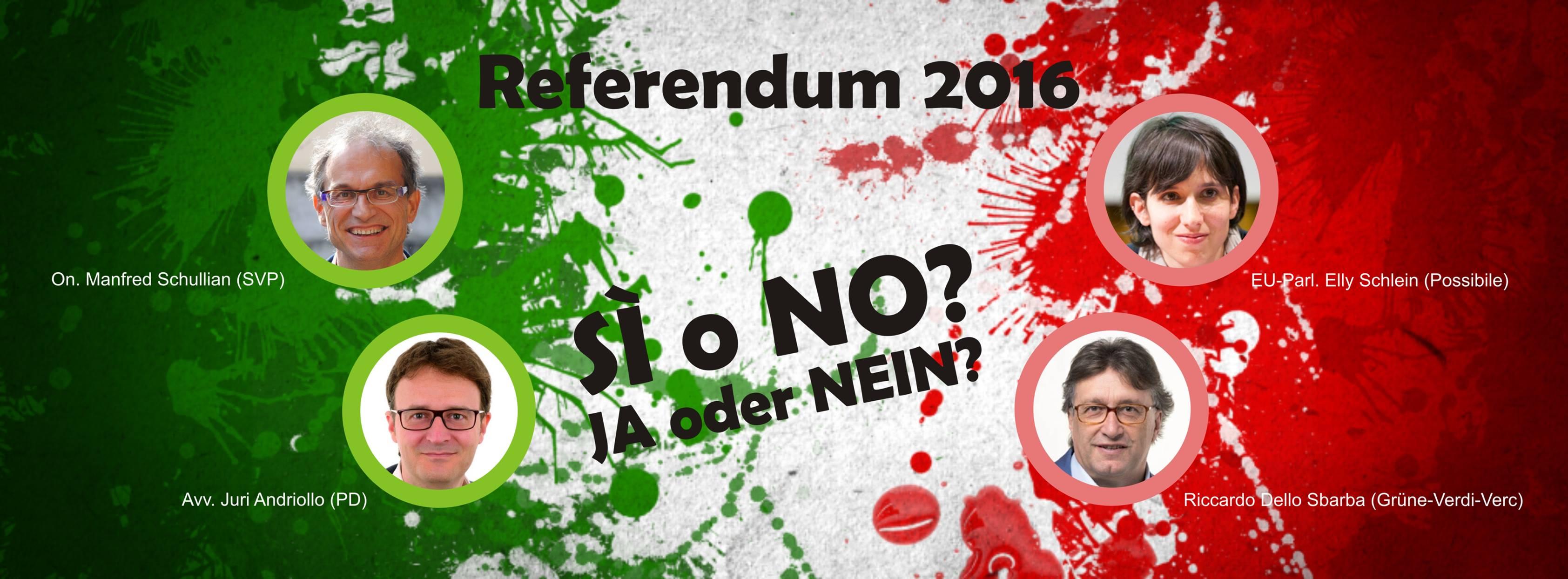 """""""REFERENDUM COSTITUZIONALE: 'SÌ' e 'NO' a confronto"""""""