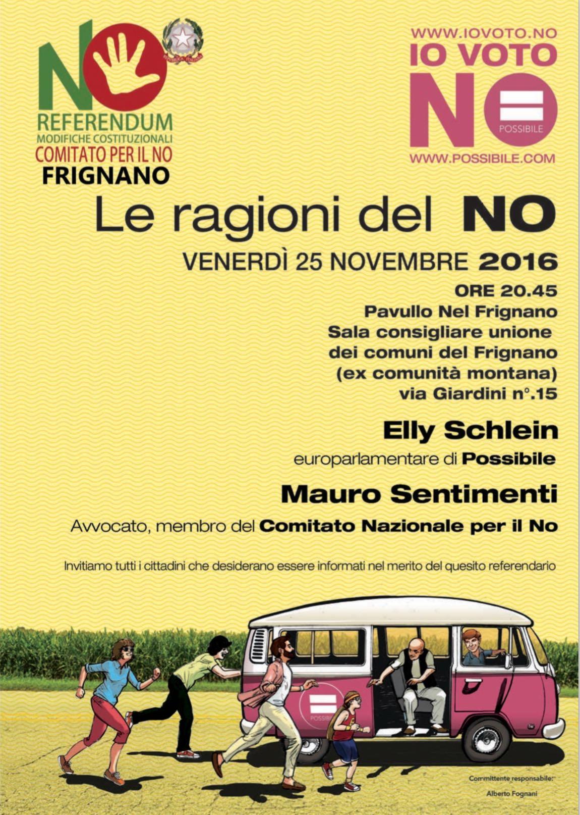 Le ragioni del NO - Tour Ricostituente a Pavullo (Mo)