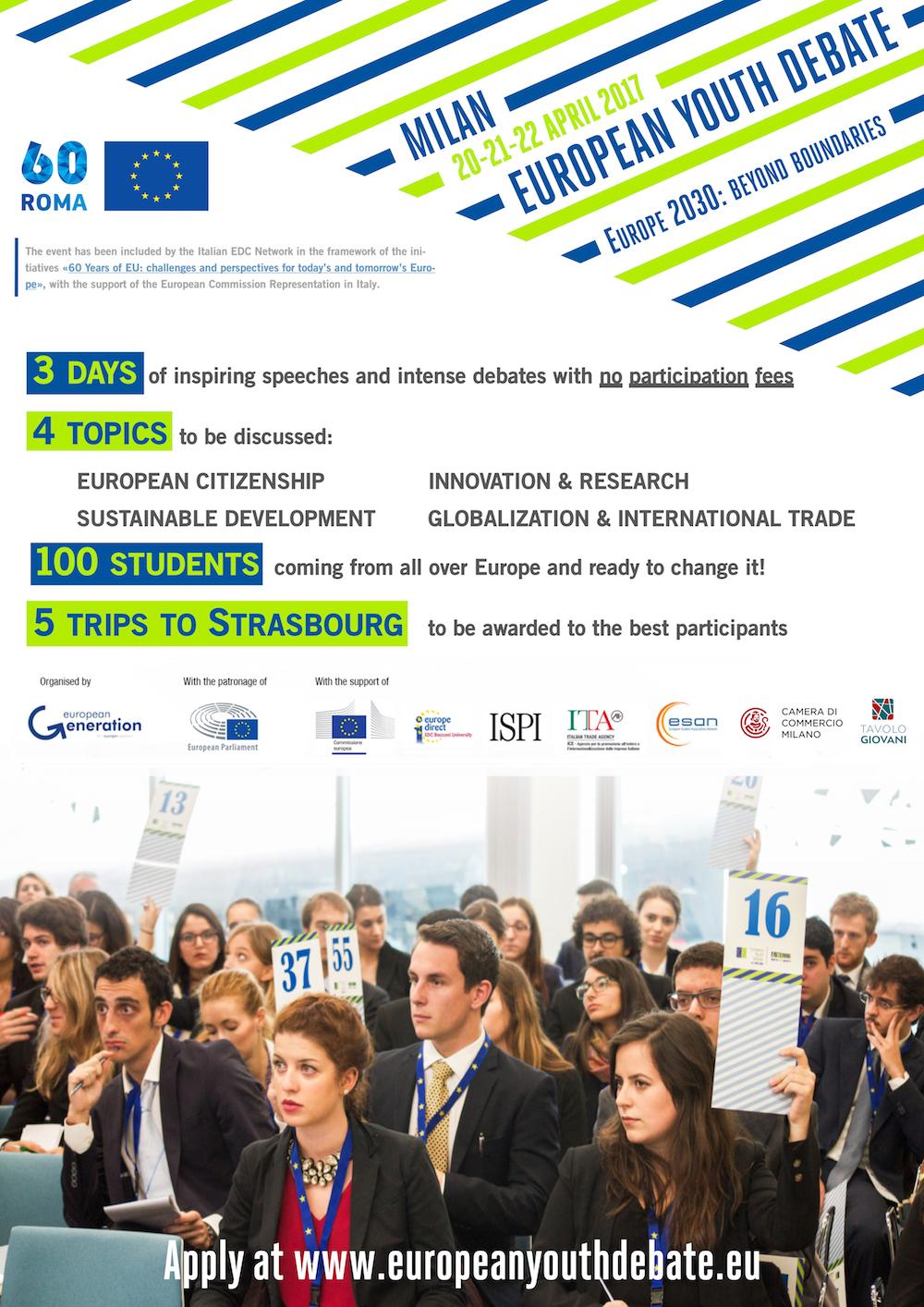 European Youth Debate 2017 - Europe 2030: beyond boundaries