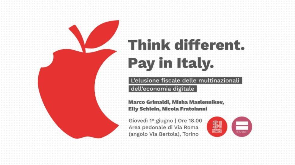 Think different. Pay in Italy. L'eleusione fiscale delle multinazionali dell'economia digitale