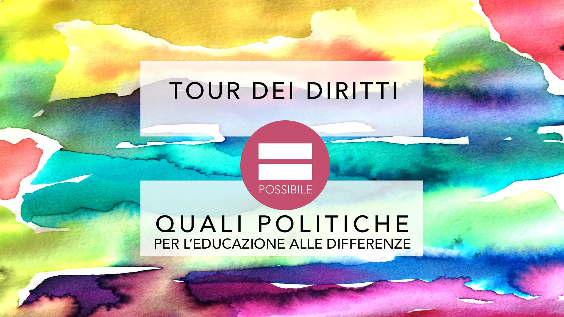 TOUR Dei Diritti - politiche per educazione alle differenze