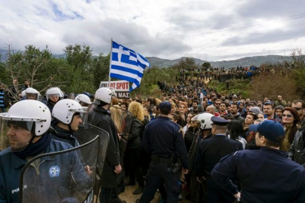 Serious incidents in the refugee camp of Moria on the island of Lesvos