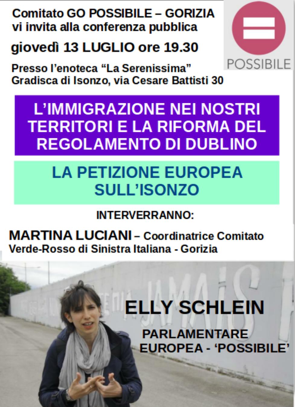 a Gorizia: immigrazione, riforma di Dublino, petizione Europea sull'Isonzo