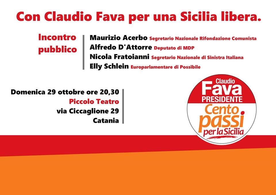 Incontro pubblico. Con Claudio Fava per una Sicilia libera.