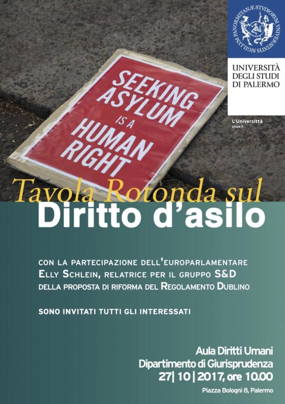 Tavola rotonda sul diritto d'asilo presso il Dipartimento di Giurisprudenza dell'Università di Palermo