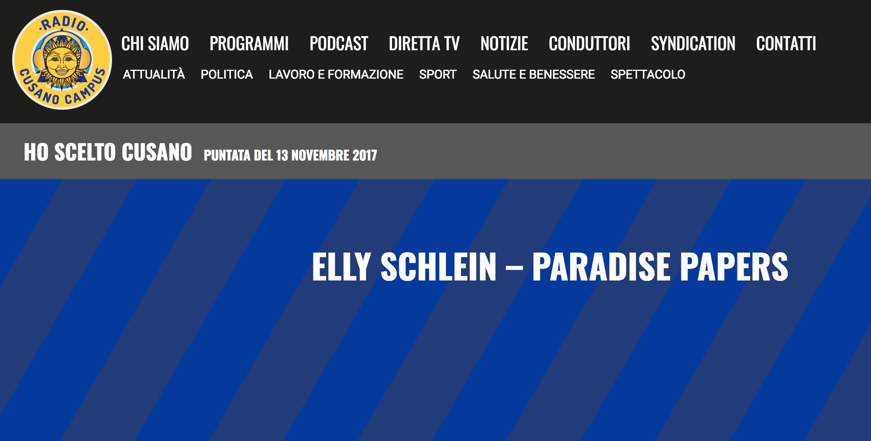 Intervista a Radio Cusano Campus – Paradise Papers