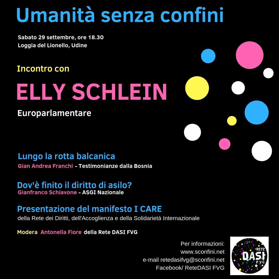 Umanità senza confini, incontro con Elly Schlein