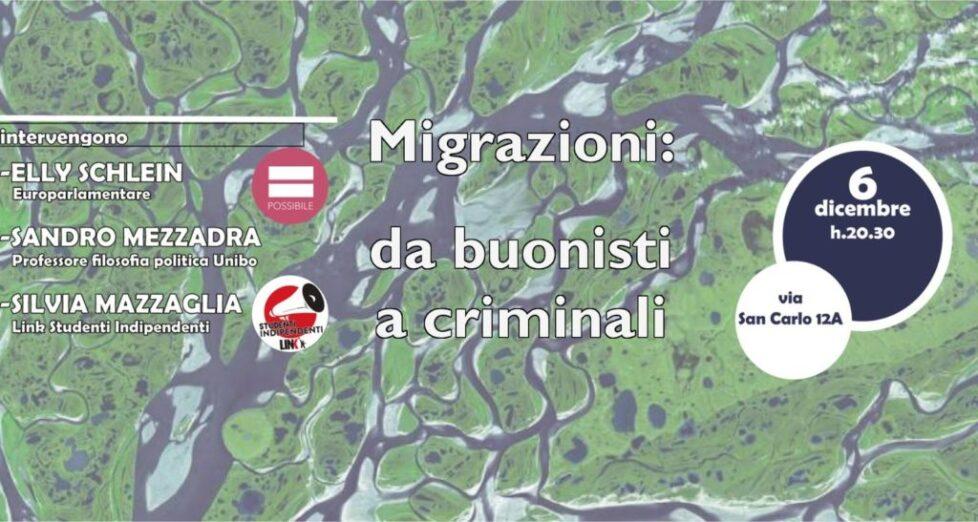 Migrazioni: da buonisti a criminali.