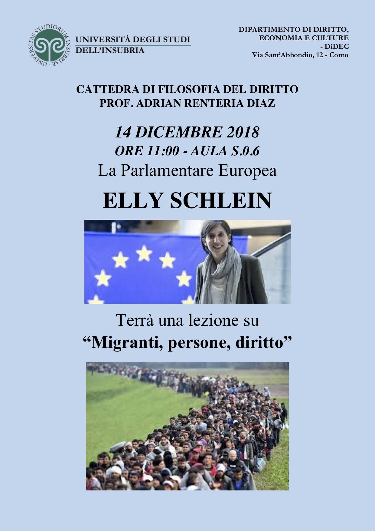"""Università dell'Insubria - Lezione su """"Migranti, persone, diritto"""""""