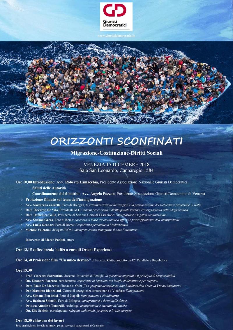 ORIZZONTI SCONFINATI - Migrazioni / Costituzione / Diritti sociali
