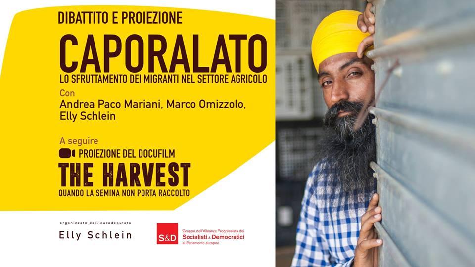 """Caporalato - Dibattito e proiezione """"The Harvest"""""""