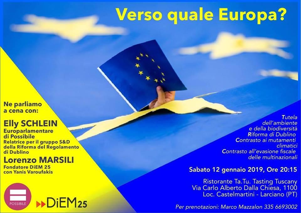 Verso quale Europa? - Cena e dibattito