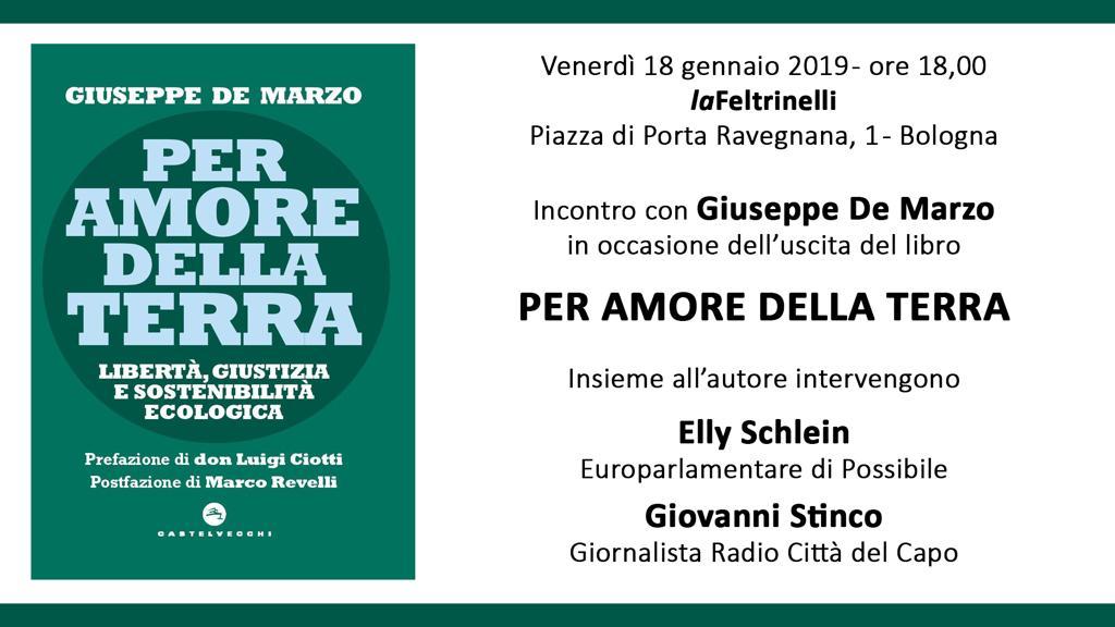 """Presentazione del libro """"Per amore della Terra"""" di Giuseppe De Marzo"""