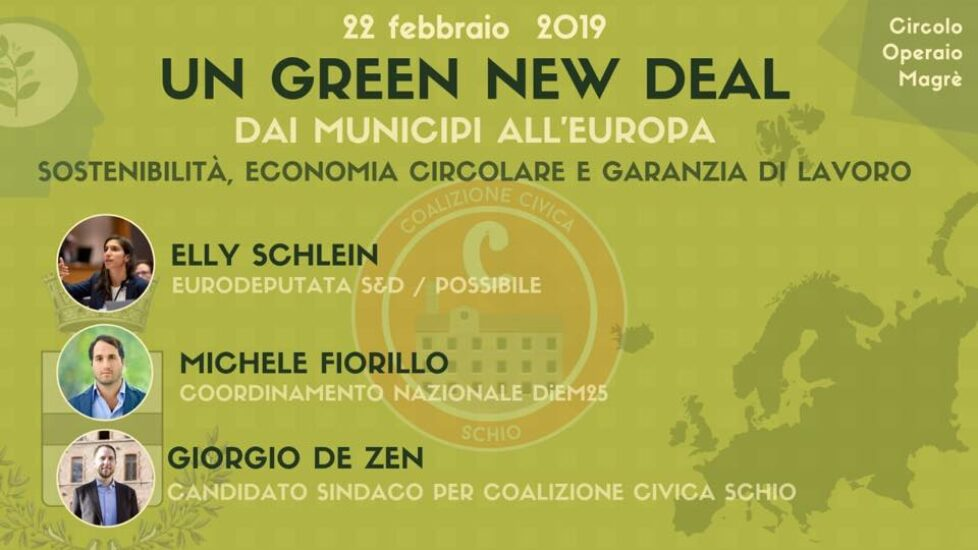 Un green new deal: dai municipi all'Europa