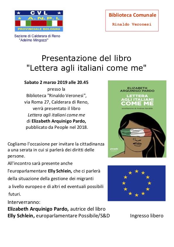 """Presentazione del libro """"Lettera agli italiani come me"""""""