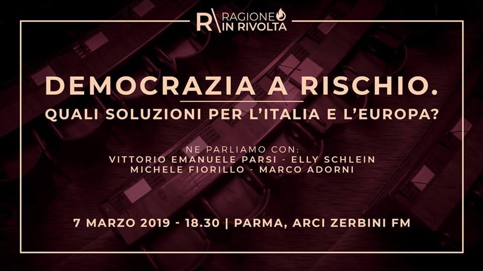 Democrazia a rischio. Quali soluzioni per l'Italia e l'Europa?