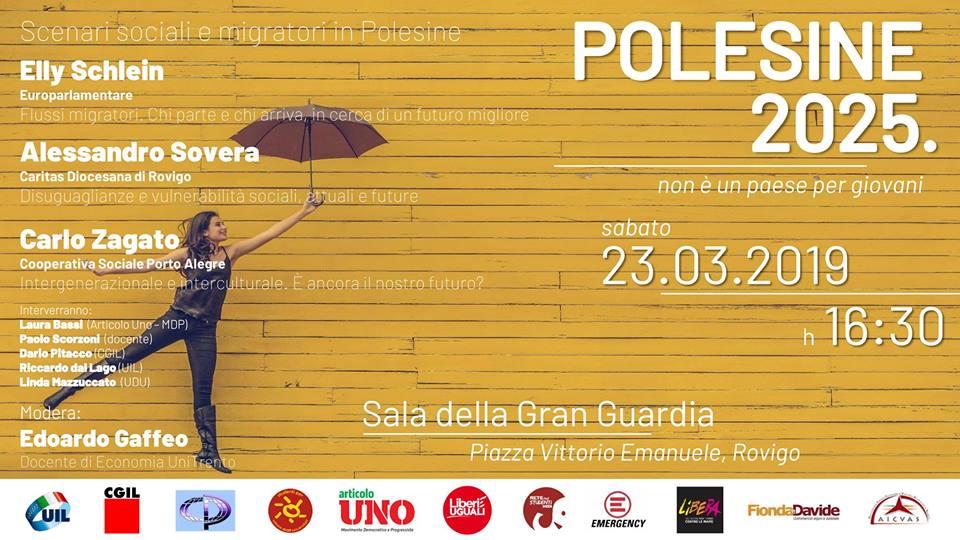 Polesine 2025. Scenari sociali e migratori in Polesine