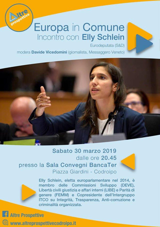 Europa in Comune – incontro con l'europarlamentare Elly Schlein