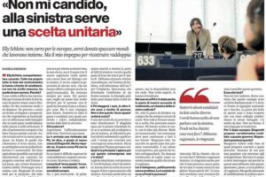 Il Manifesto – Elly Schlein: «Non mi candido, alla sinistra serve una scelta unitaria»