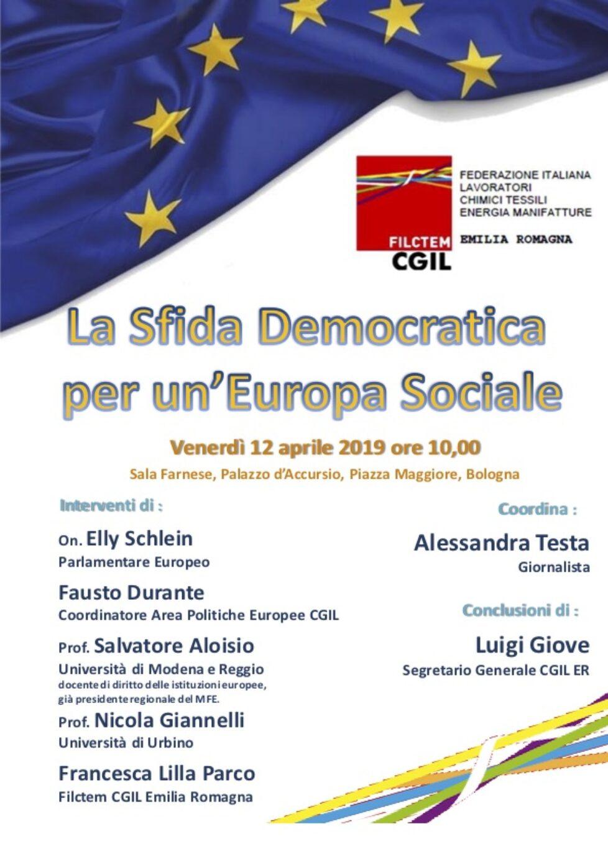 La Sfida Democratica per un'Europa Sociale