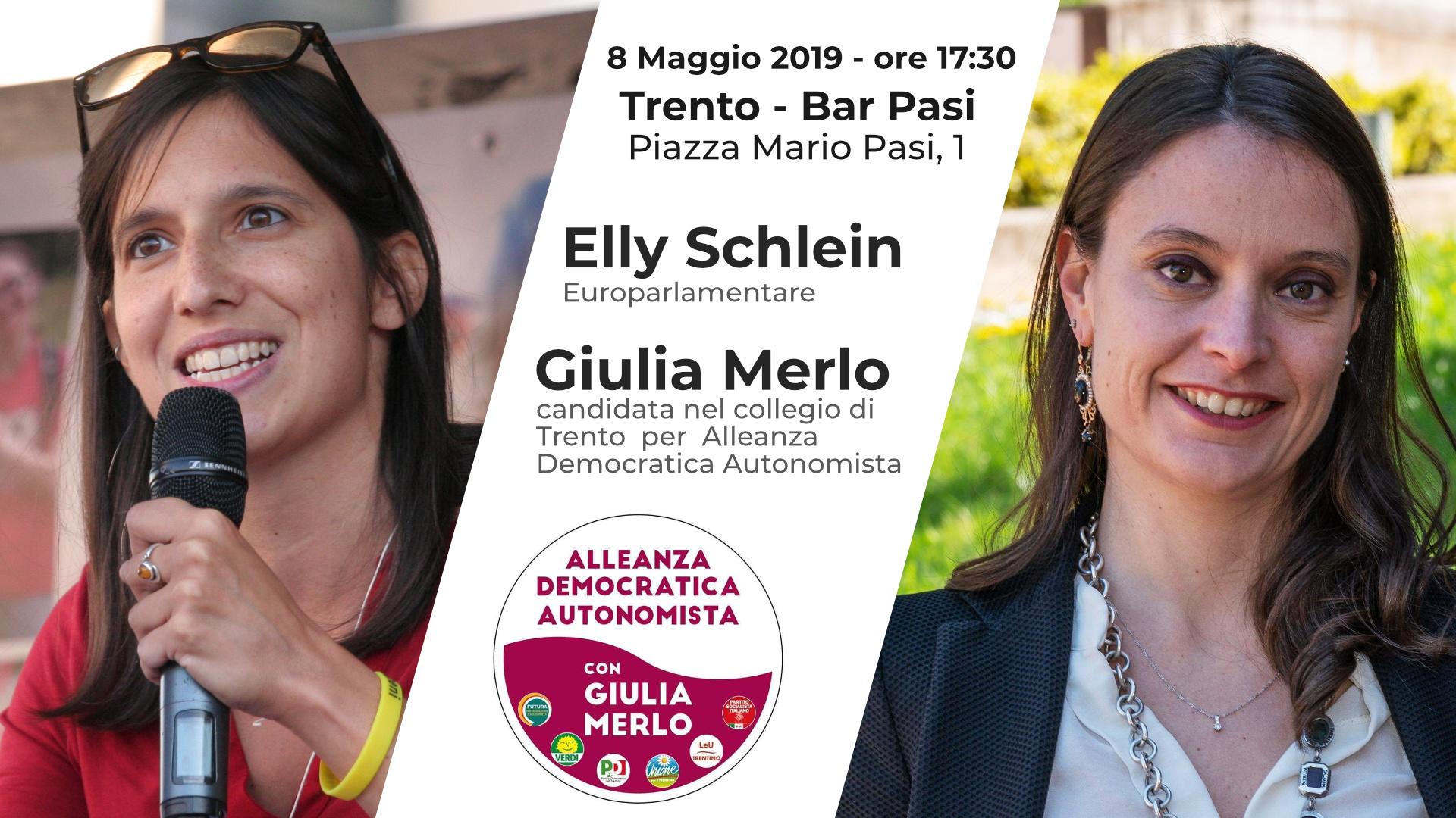 Aperitivo con Elly Schlein e Giulia Merlo