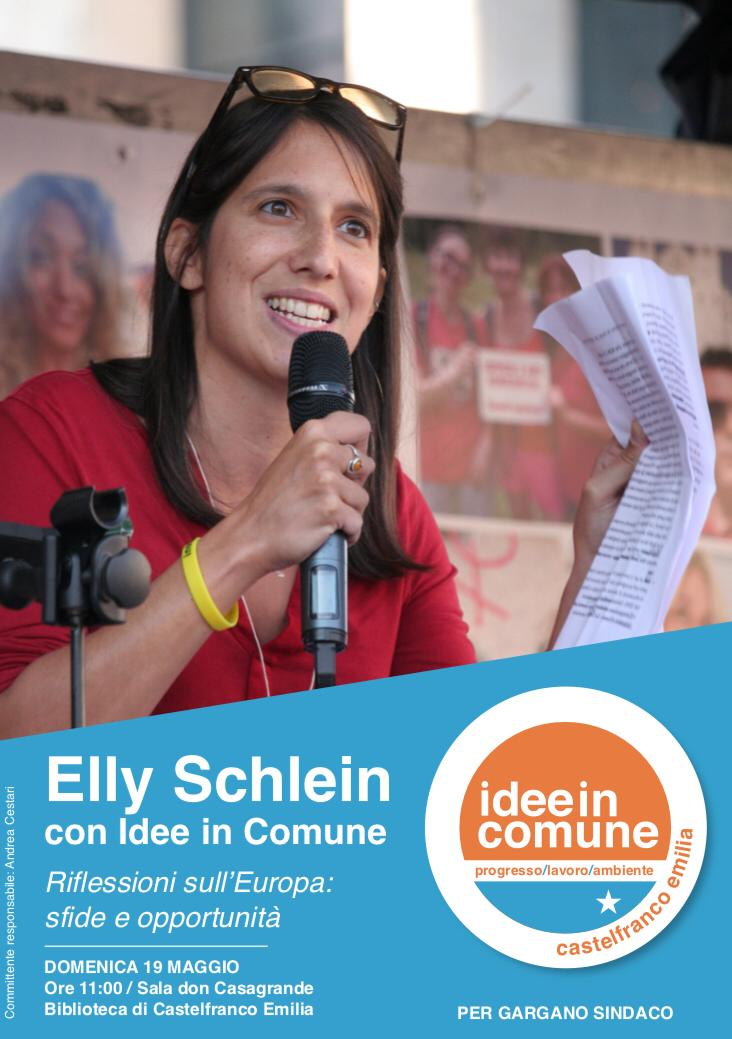 Elly Schlein con Idee in Comune