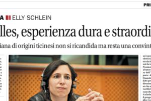 Corriere del Ticino – «Bruxelles, esperienza dura e straordinaria»