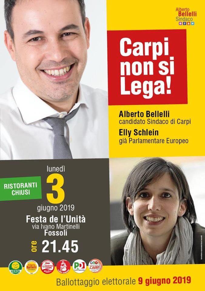 Incontro con Elly Schlein e Alberto Bellelli a Carpi