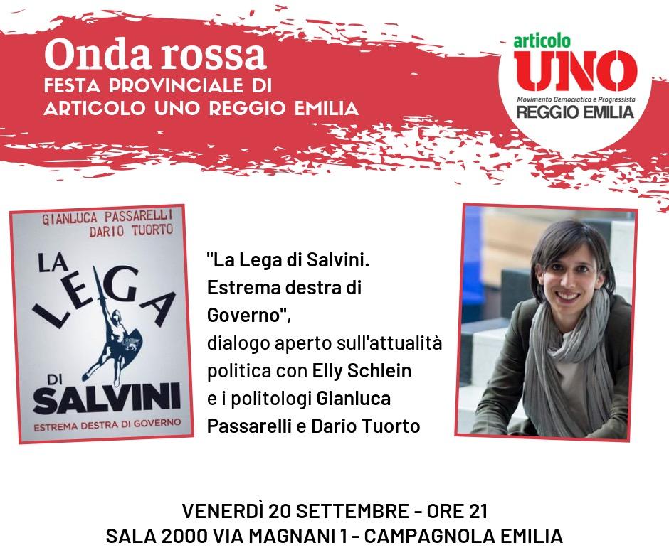ONDA ROSSA Festa provinciale di Articolo Uno Reggio Emilia