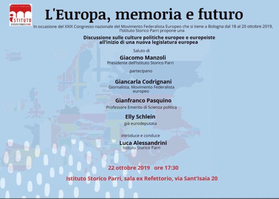 L'Europa, memoria e futuro