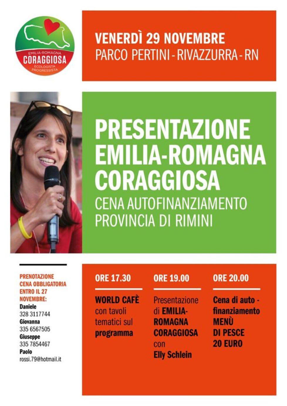 Cena e Presentazione Emilia-Romagna Coraggiosa