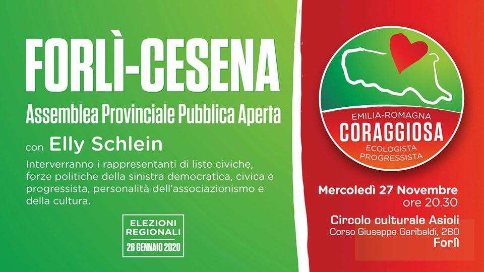 Emilia-Romagna Coraggiosa, Assemblea Provinciale di Forlì-Cesena