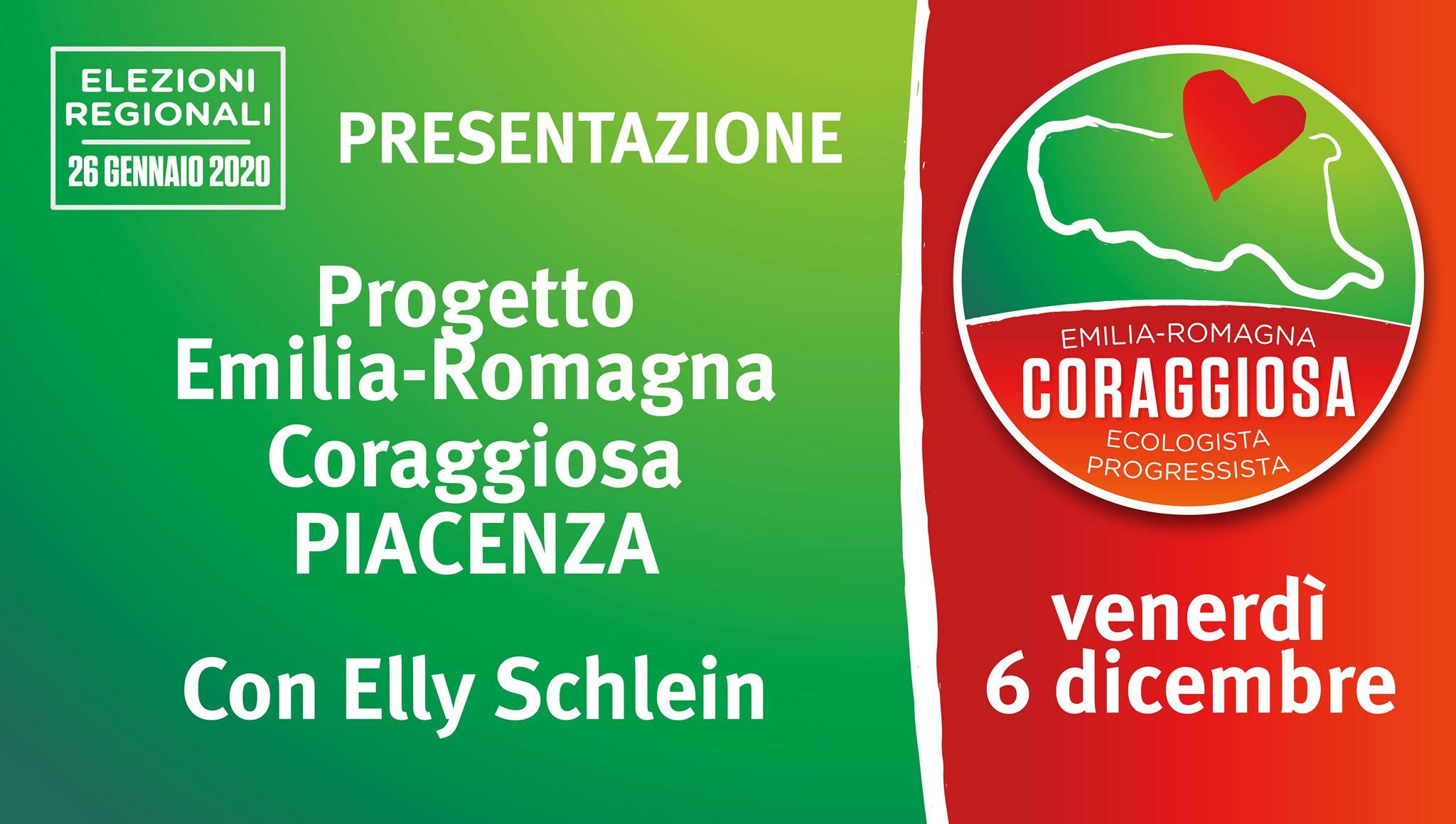 Presentazione di Emilia-Romagna Coraggiosa con Elly Schlein