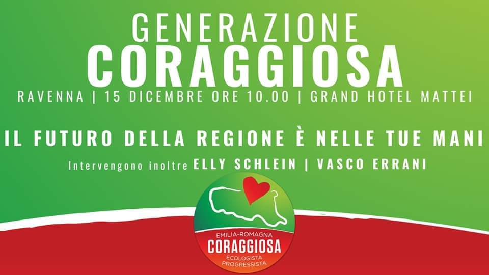 Generazione #Coraggiosa: il futuro della Regione è nelle tue mani