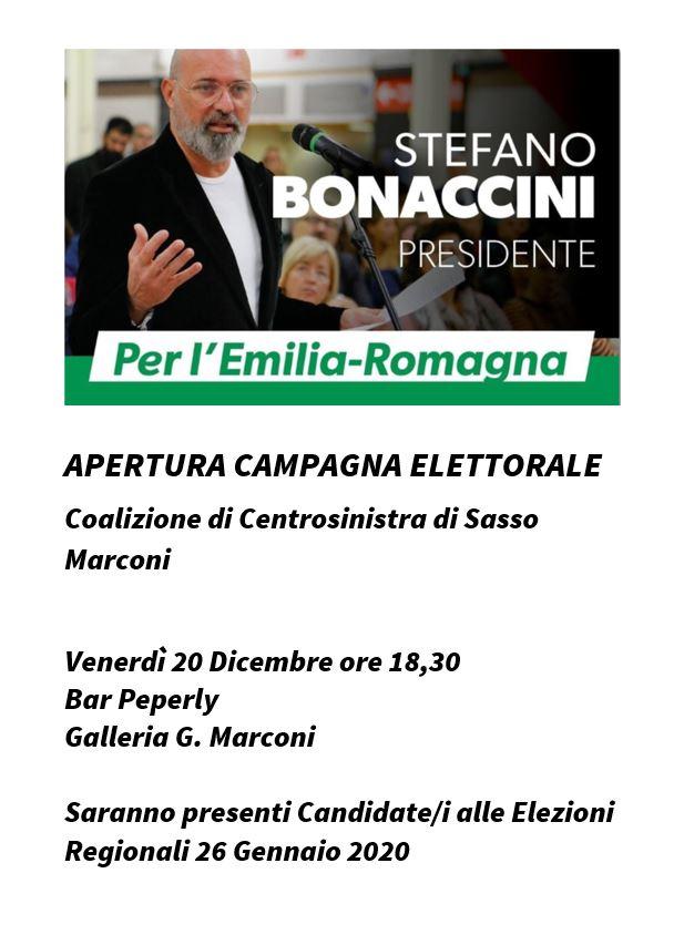 Apertura della campagna elettorale a Sasso Marconi