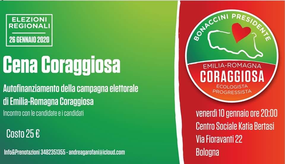 Cena Coraggiosa a Bologna